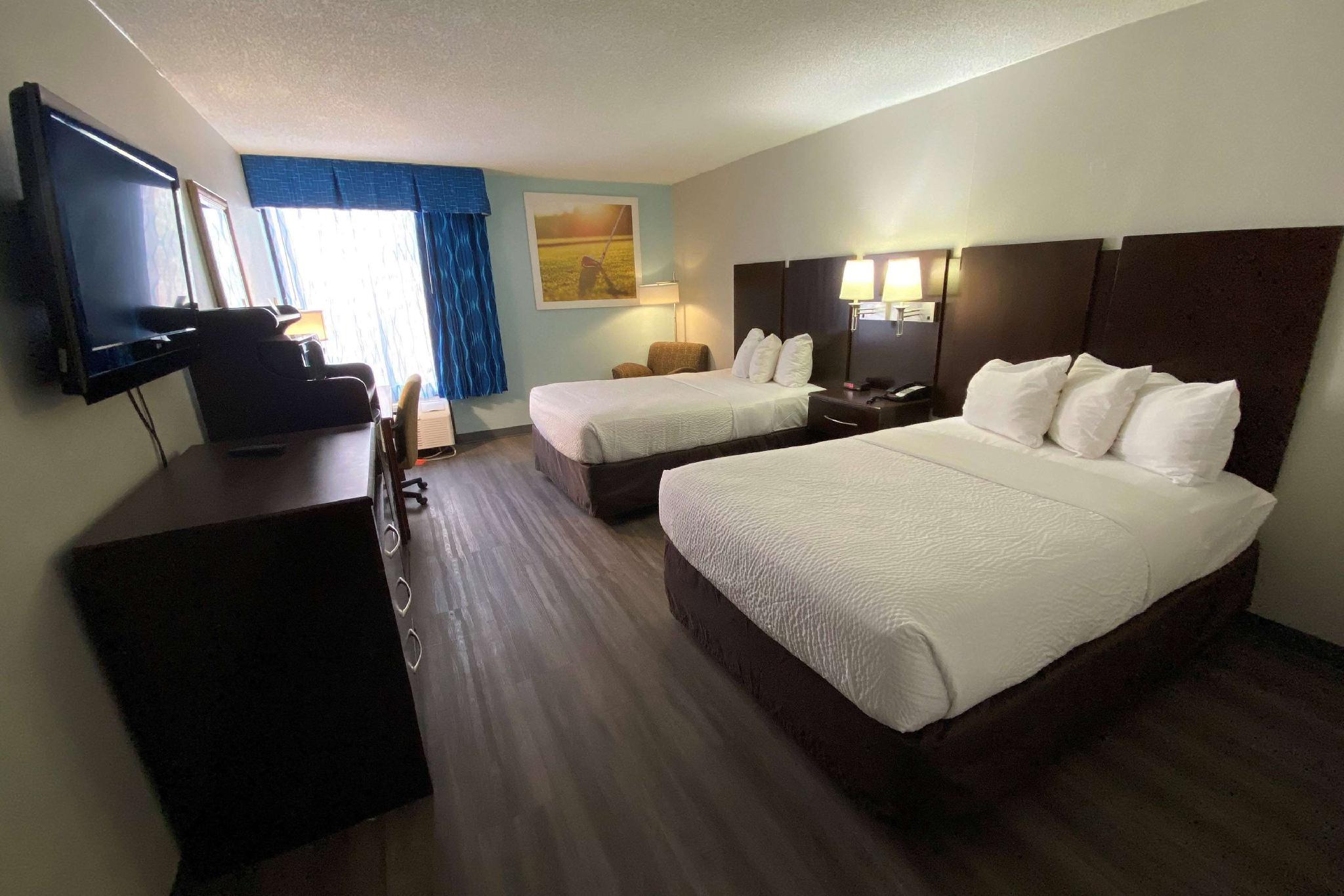2 Double Beds, One-Bedroom, Efficiency Suite, Non-Smoking