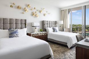 Partial Ocean View, Guest room, 2 Queen, Balcony