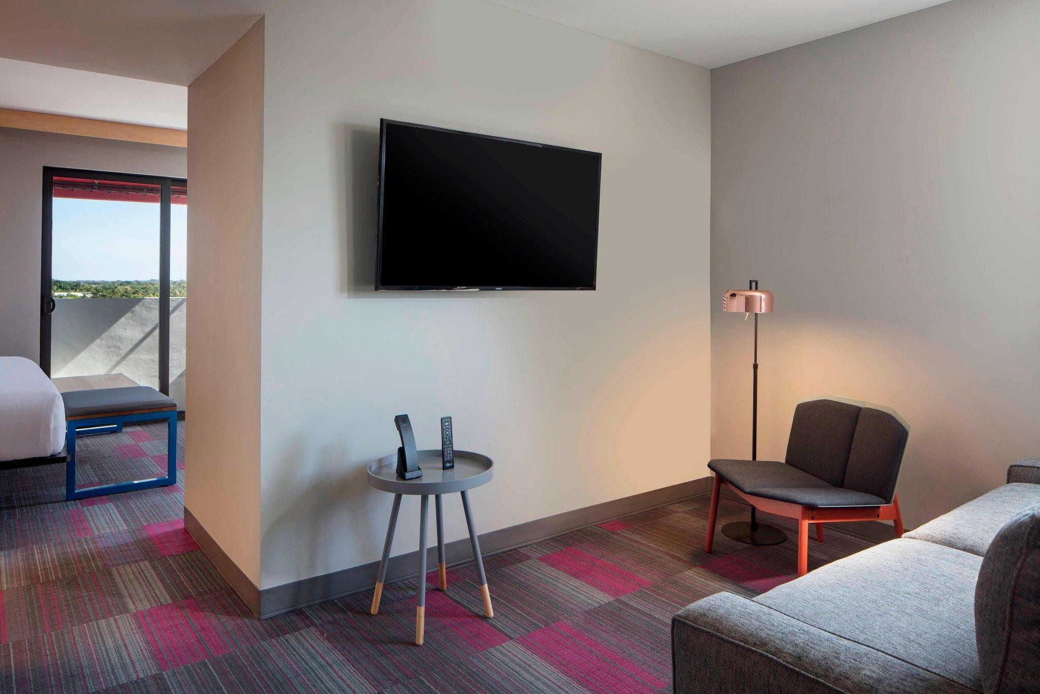 Suite, 1 King, Alternate bed:  sofa bed, Corner room