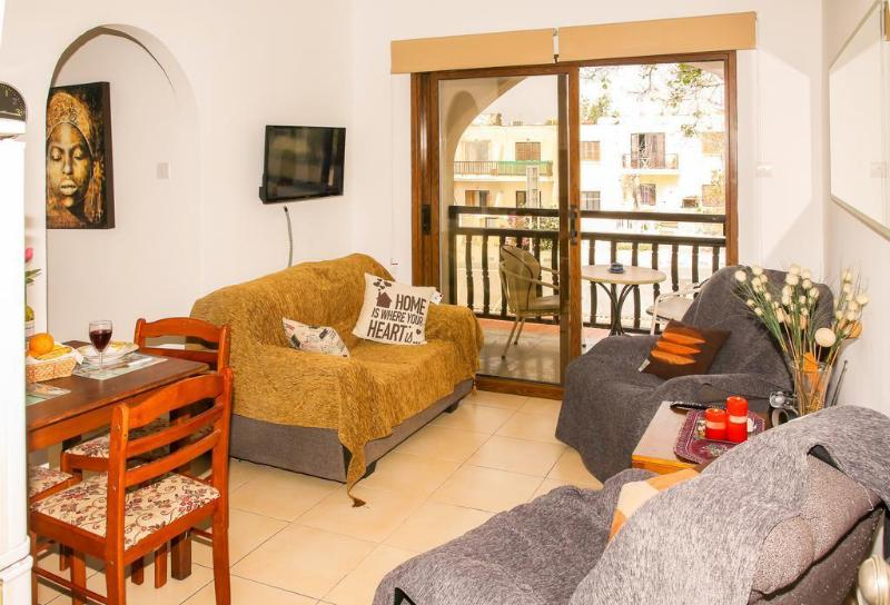 Apartament (52 m²) w okolicy Pafos - centrum z 2 sypialniami i 1 łazienkami ⭐⭐⭐⭐⭐